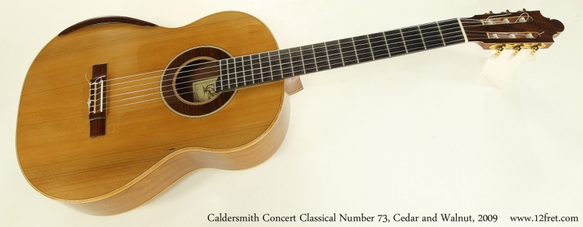 Caldersmith Concert Classical Number 73, Red Cedar and Walnut, 2009  Full Front VIew