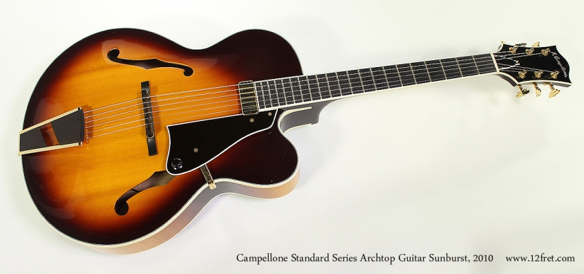 Campellone Standard Series Archtop Guitar Sunburst, 2010 Full Front View