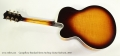 Campellone Standard Series Archtop Guitar Sunburst, 2010 Full Rear View