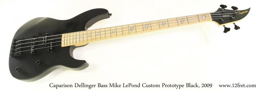 Caparison Dellinger Bass Mike LePond Custom Prototype Black, 2009 Full Front View