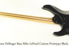 Caparison Dellinger Bass Mike LePond Custom Prototype Black, 2009 Full Rear View