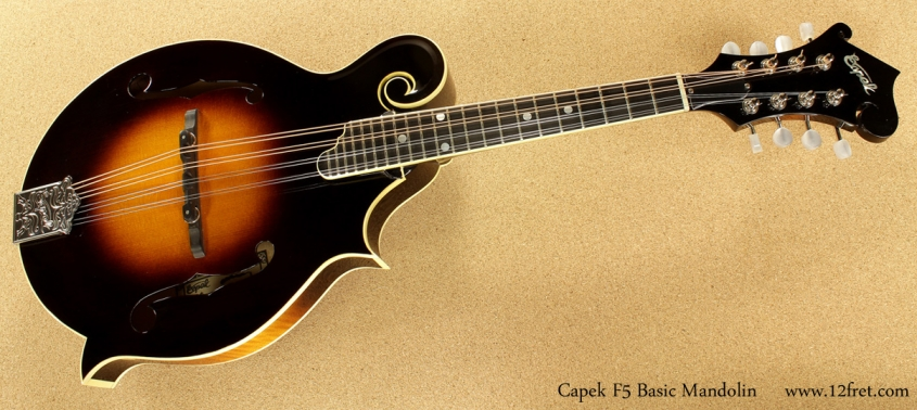 Capek F5 Basic Mandolin full front view