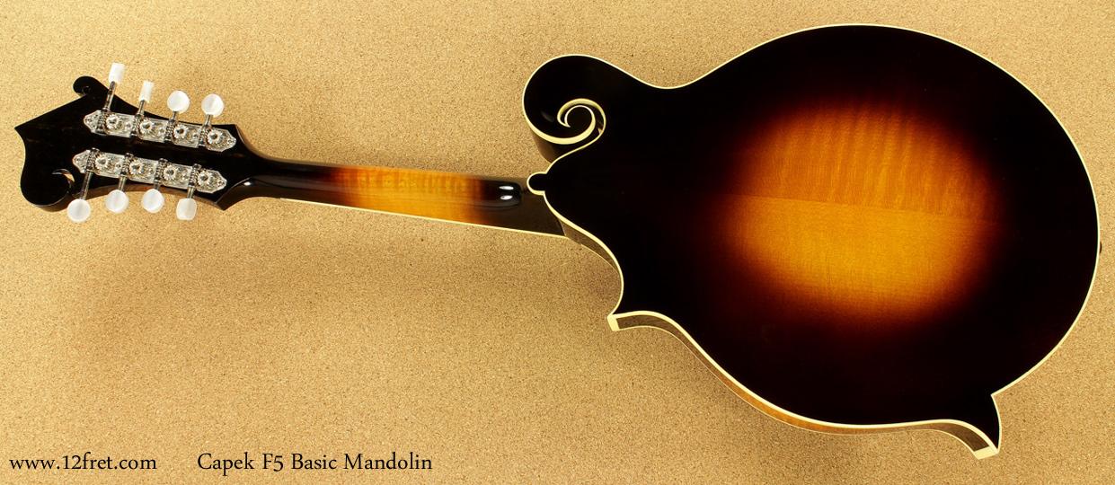 Capek F5 Basic Mandolin full rear view
