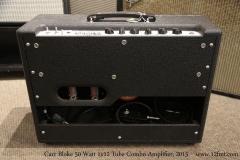 Carr Bloke 50 Watt 1x12 Tube Combo Amplifier, 2015  Full Rear View