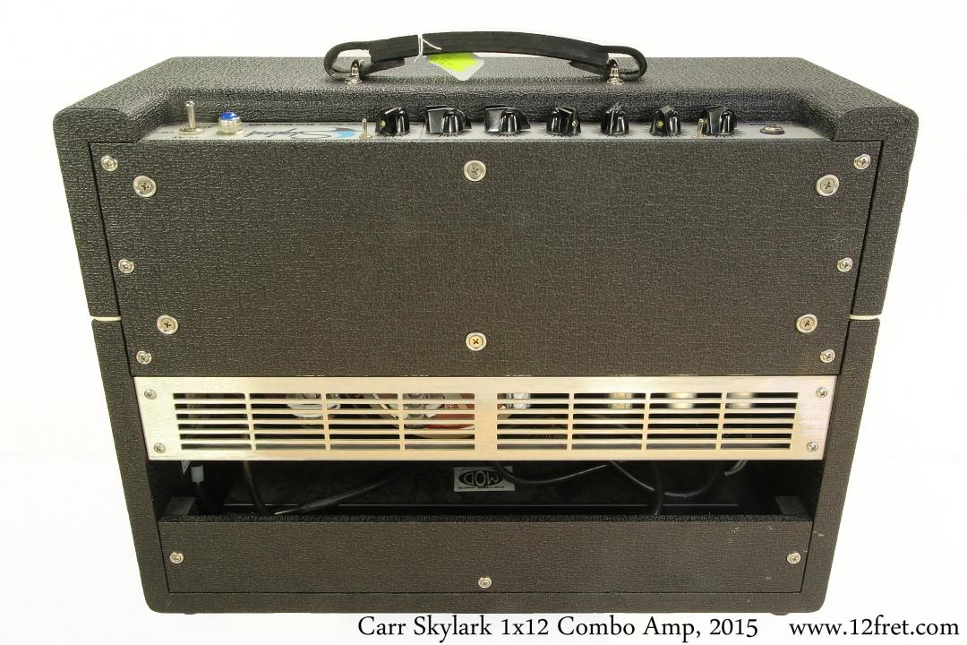 Carr Skylark 1x12 Combo Amp, 2015 Full Rear View