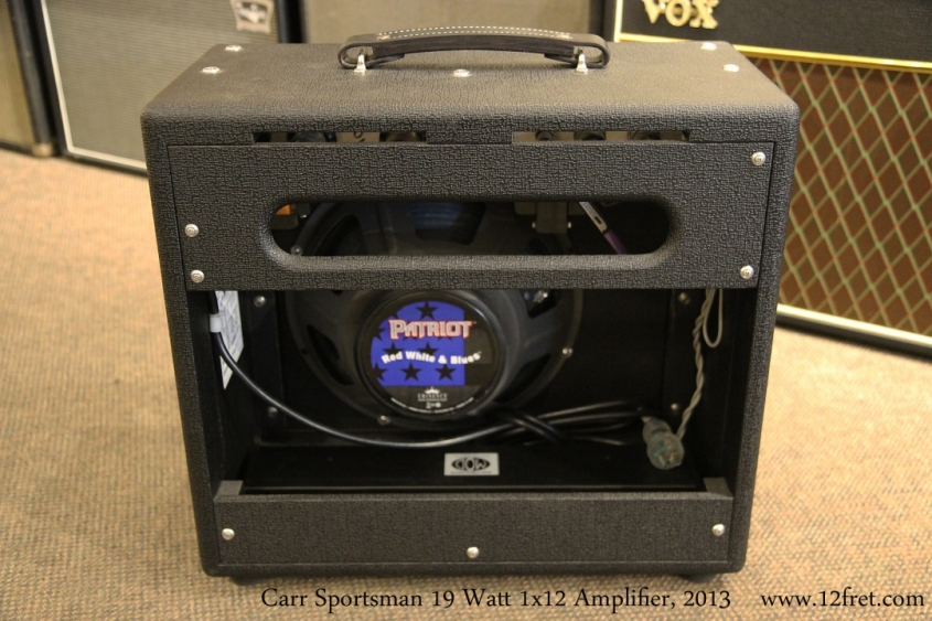 Carr Sportsman 19 Watt 1x12 Amplifier, 2013  Full Rear View