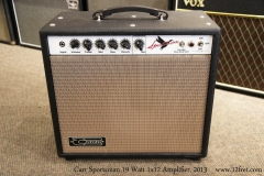 Carr Sportsman 19 Watt 1x12 Amplifier, 2013  Full Front View