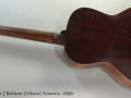 Carson J Robison (Gibson) Acoustic, 1930s Full Rear VIew
