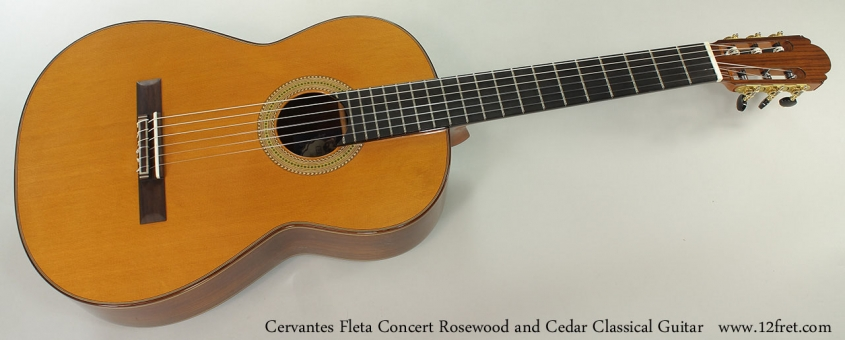 Cervantes Fleta Concert Rosewood and Cedar Classical Guitar Full Front View