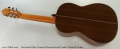 Cervantes Fleta Concert Rosewood and Cedar Classical Guitar Full Rear View