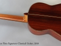 Cervantes Fleta Signature Classical Guitar, 2010 Full Rear View