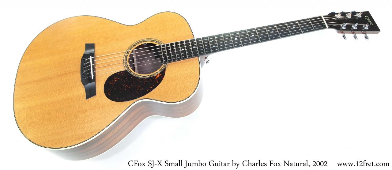 CFox SJ-X Small Jumbo Guitar by Charles Fox Natural, 2002 Full Front View