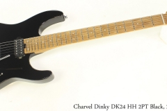 Charvel Dinky DK24 HH 2PT Black, 2019 Full Front View