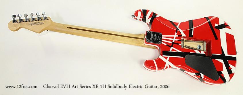 Charvel EVH Art Series XB 1H Solidbody Electric Guitar, 2006 Full Rear View