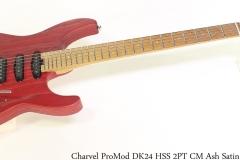 Charvel Pro Mod DK24 HSS 2PT CM Ash Satin Red Full Front View