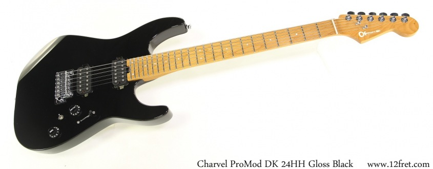 Charvel ProMod DK 24HH Gloss Black Full Front View