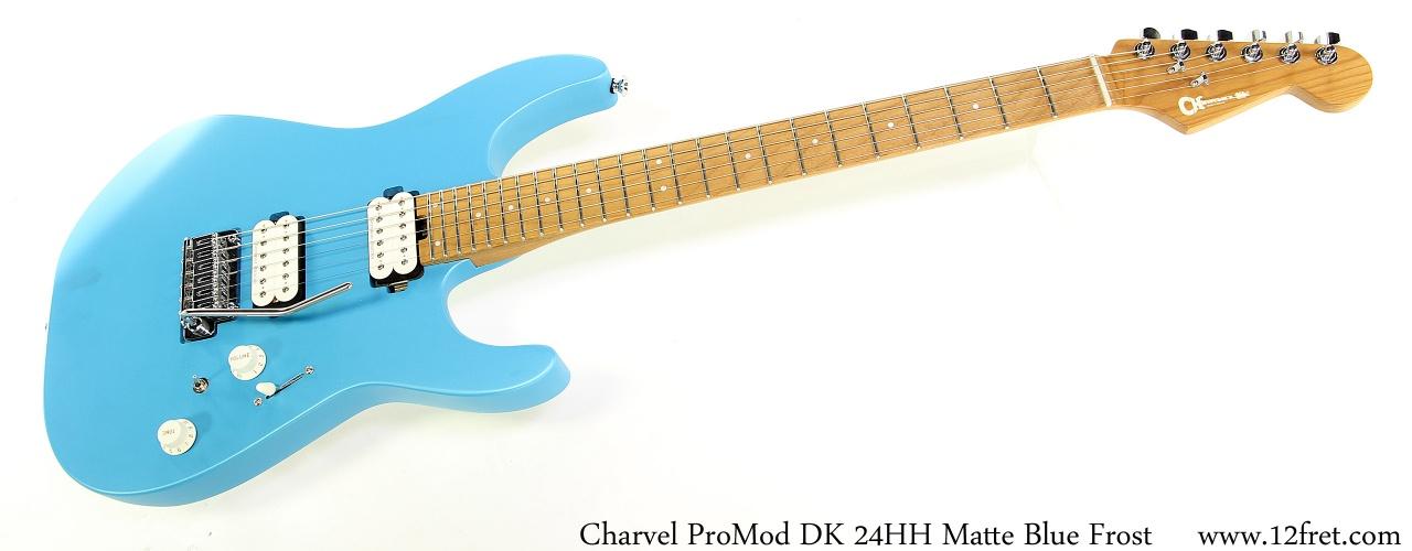 Charvel ProMod DK 24HH Matte Blue Frost Full Front View