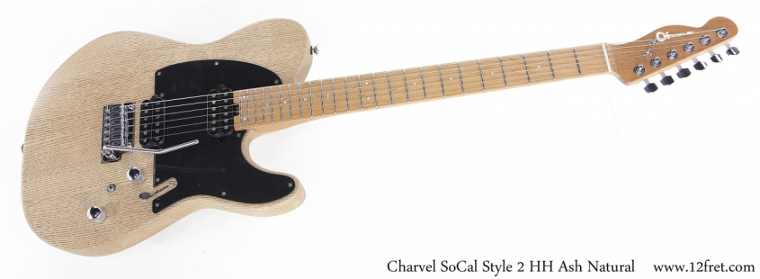 Charvel SoCal Style 2 HH Ash Natural Full Front View