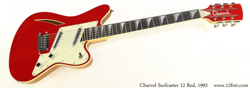 Charvel Surfcaster 12 Red, 1992 Full Front View
