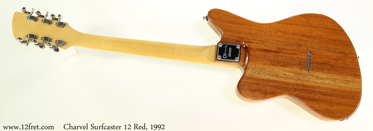 Charvel Surfcaster 12 Red, 1992 Full Rear View