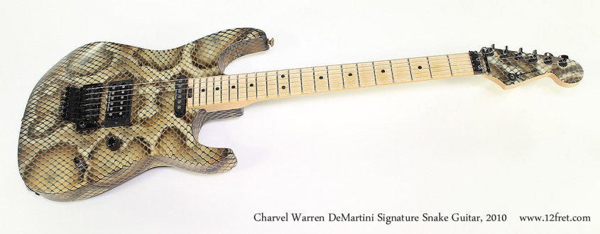 Charvel Warren DeMartini Signature Snake Guitar, 2010 Full Front View