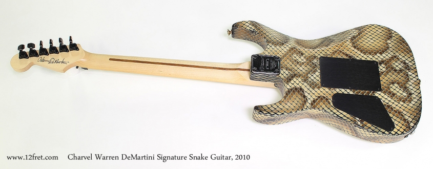 Charvel Warren DeMartini Signature Snake Guitar, 2010 Full Rear View