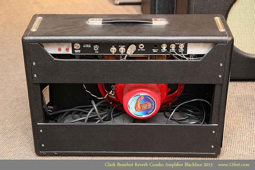 Clark Beaufort Reverb Combo Amplifier Blackface 2013 Full Rear View