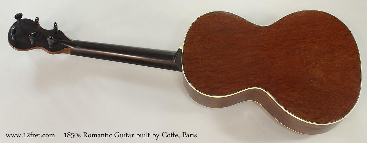 Romantic Guitar built by Coffe, Paris , 1850s Full Rear View