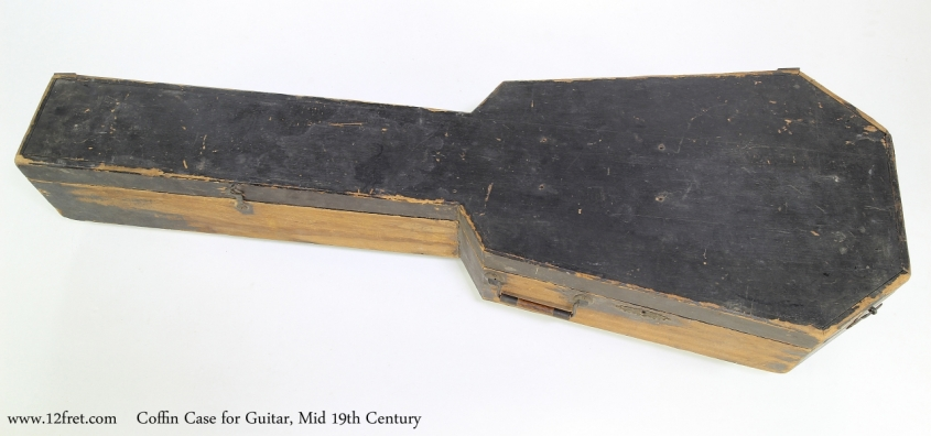 Coffin Case for Guitar, Mid 19th Century  Full TopView