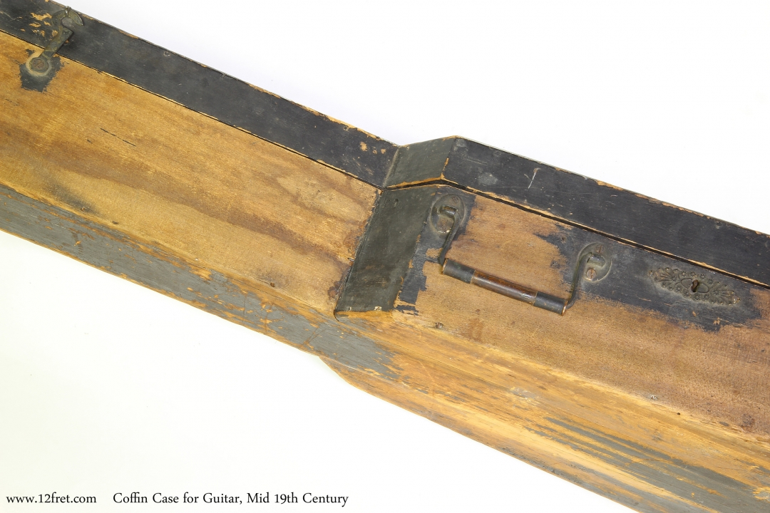 Coffin Case for Guitar, Mid 19th Century  Case Latch and Handle View