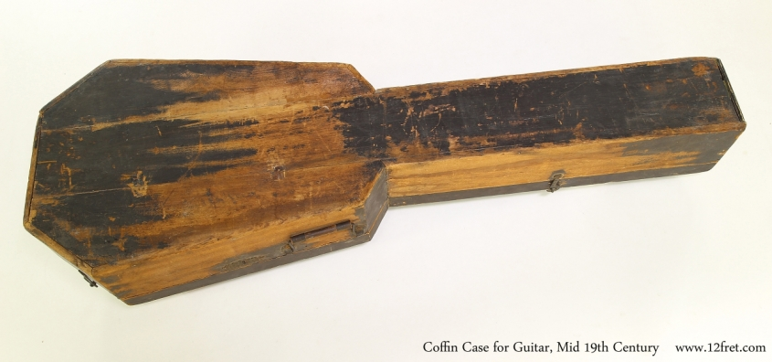 Coffin Case for Guitar, Mid 19th Century  Full Bottom View