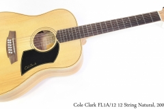 Cole Clark FL1A/12 12 String Natural, 2008 Full Front View