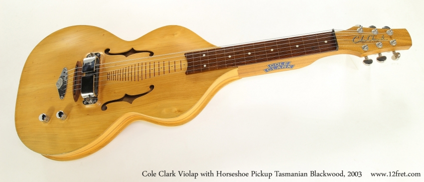 Cole Clark Violap with Horseshoe Pickup Tasmanian Blackwood, 2003   Full Front View