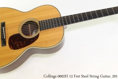 Collings 0002H 12 Fret Steel String Guitar, 2011 Full Front View
