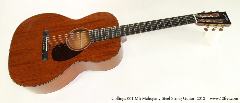 Collings 001 Mh Mahogany Steel String Guitar, 2012   Full Front View