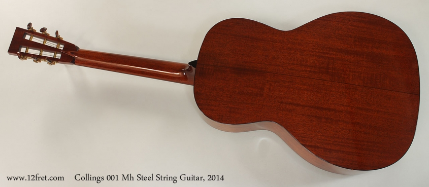 Collings 001 Mh Steel String Guitar, 2014 Full Rear View
