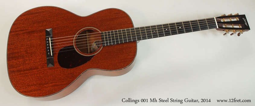 Collings 001 Mh Steel String Guitar, 2014 Full Front View