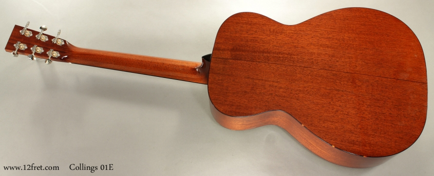 Collings 01E Englemann Top Steel String full rear view
