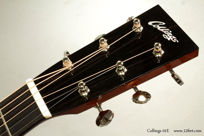 Collings 01E Englemann Top Steel String head front view