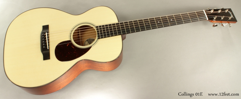 Collings 01E Englemann Top Steel String full front view
