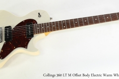 Collings 360 LT M Offset Body Electric Warm White, 2017   Full Front View