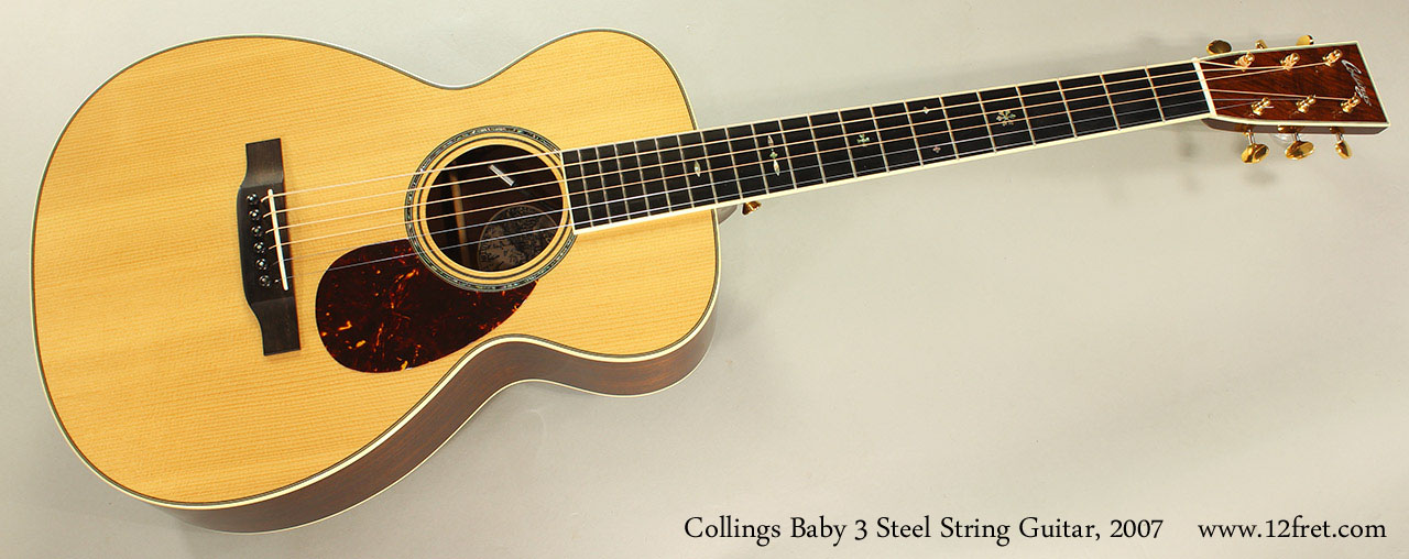Collings Baby 3 Steel String Guitar, 2007 Full Front VIew