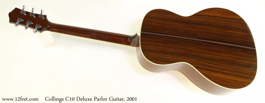 Collings C10 Deluxe Parlor Guitar, 2001 Full Rear View
