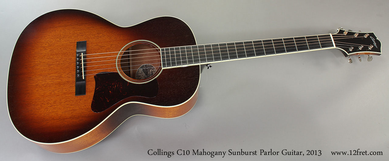 Collings C10 Mahogany Sunburst Parlor Guitar, 2013 Full Front Vie