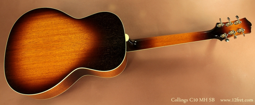 Collings C10 MH Sunburst full rear view