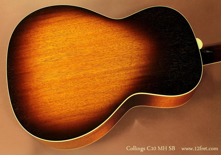 Collings C10 MH Sunburst back