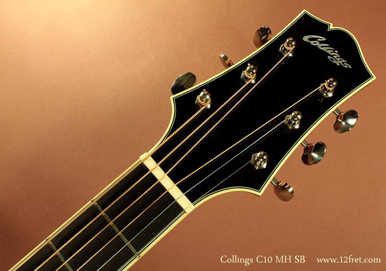 Collings C10 MH Sunburst head front