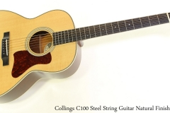 Collings C100 Steel String Guitar Natural Finish Full Front View