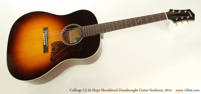 Collings CJ-35 Slope Shouldered Dreadnought Guitar Sunburst, 2014  Full Front View