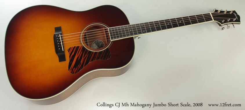 Collings CJ Mh Mahogany Jumbo Short Scale, 2008 Full Front View